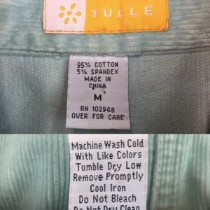 Anthropologie Jackets & Coats - Tulle Corduroy Stretchy Crop Button Up Jacket